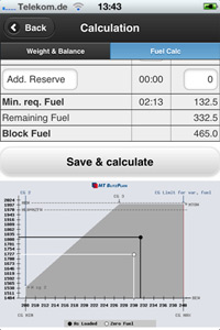 Blitzplan App - Fuel calculation